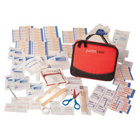 Justin Case Auto Safety & First Aid Kit- Family FA, Black