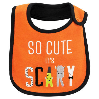 Just One YouMade by Carter's Baby So Cute It's Scary Bib - Osz, Clown Fish Orange