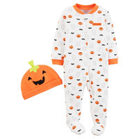 Just One YouMade by Carter's Baby Pumpkin Sleep N' Play and Hat Set - 9M, Cosmic Rust
