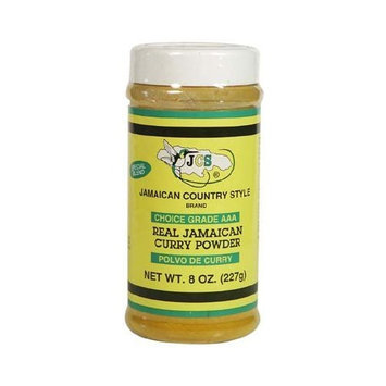 JCS Real Jamaican Curry Powder, 8oz, (12 Pack)