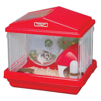 Iris Deluxe Small Animal Habitat Cage - Red