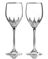 Vera Wang Wedgwood Set of 2 Duchesse Platinum Wine Glasses