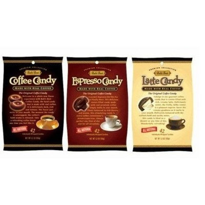 Fusion Gourmet Bali's Best Coffee, Espresso and Latte Candy Three Pack, 5.3oz
