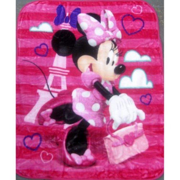 Girls Fuchsia Minnie Disney Licensed Plush Blanket