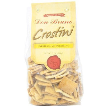 Don Bruno Parmesan and Pecorino Crostini, 7-Ounce Bags (Pack of 6)
