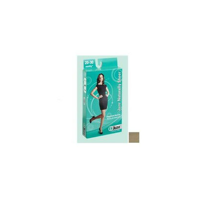Juzo 2101AGSB14 IV Large - 20-30mmHg Naturally Sheer Thigh-High Open Toe Compression Stocking with Silicone Border - Reg