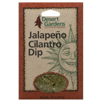 Desert Gardens Dip Mix Jalapeno & Cilantro, 0.75-Ounce (Pack of 12)