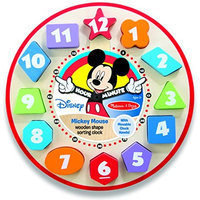 Melissa & Doug Mickey Mouse Wooden Shape Sorting Clock