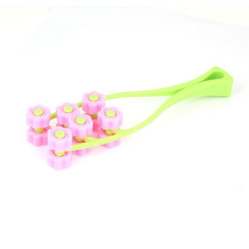 Hand Tool Pink Yellow Green Plastic 12 Rolling Roller Facial Slimming Massager