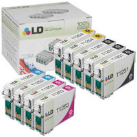 LD © Epson Remanufactured T125 Set of 9 Standard Yield Ink Cartridges: 3 Black (T1251) & 2 Cyan (T1252), Magenta (T1253), Yellow (T1254)