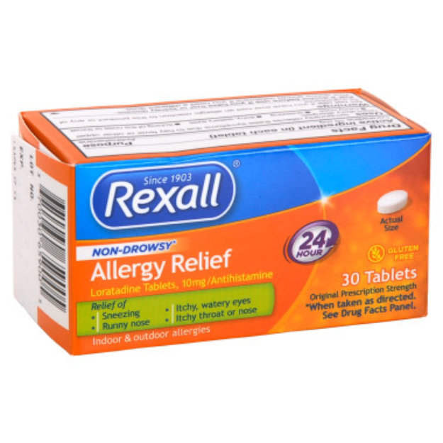 Rexall Non-Drowsy Allergy Relief Tablets - 30 ct