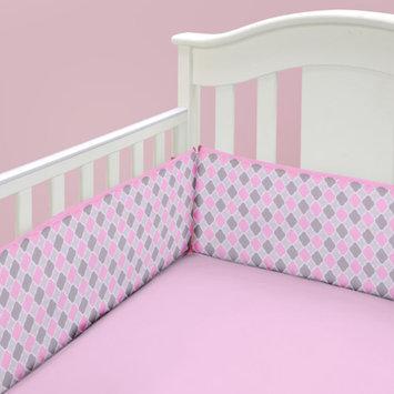 Baby Boom Mosaic Girl Crib Sheet, Pink