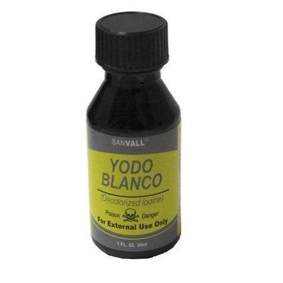 Yodo Blanco - Decolorize Iodine - White Iodine *** 3 PACK *** Sanvall 1oz