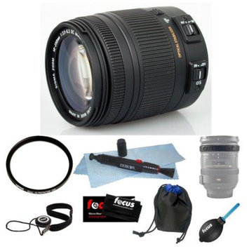 Sigma 18-250mm f3.5-6.3 DC MACRO OS HSM for Canon Digital SLR Cameras Bundle