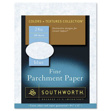 Southworth 24-lb. Fine Parchment Paper, Letter, Blue
