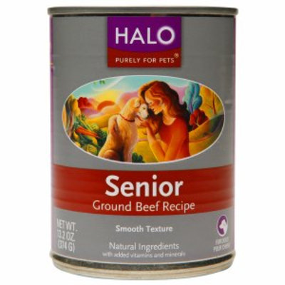 Halo, Purely For Pets Senior, Ground Beef, 13.2 oz