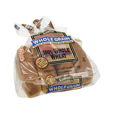 Schmidt Whole Grain Hot Dog Rolls 100% Whole Wheat - 8 CT