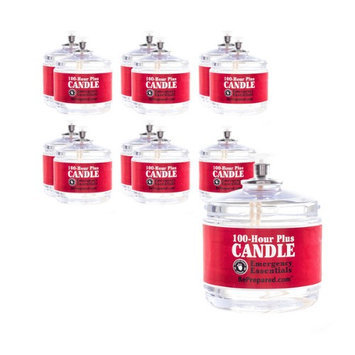 Emergency Essentials 100 Hour Plus Emergency Candle, Clear Mist - Set of 12 Survival Candles