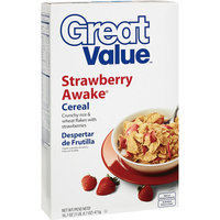 Great Value Strawberry Awake Cereal