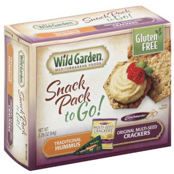 Wild Garden Traditional Hummus & Original Multi-Seed Crackers Snack Pack, 2.26 oz, (Pack of 6)