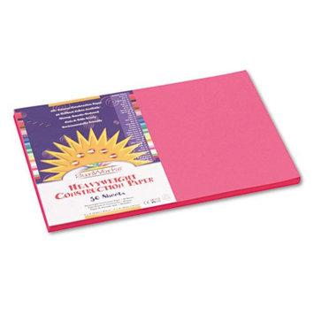Sunworks SunWorks Construction Paper, Heavyweight, 12 x 18, Hot Pink, 50 Sheets