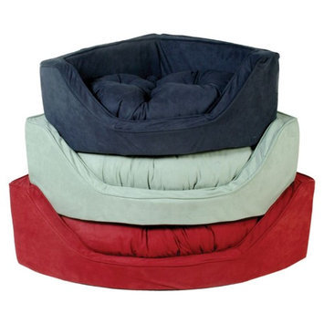 Snoozer Camel/Olive Microsuede Dog Bed 25080