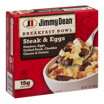 Jimmy Dean Breakfast Bowl Steak & Eggs
