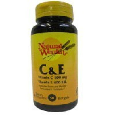 Natural Wealth Vitamin C & E SOFTGELS NAT/WL Size: 50