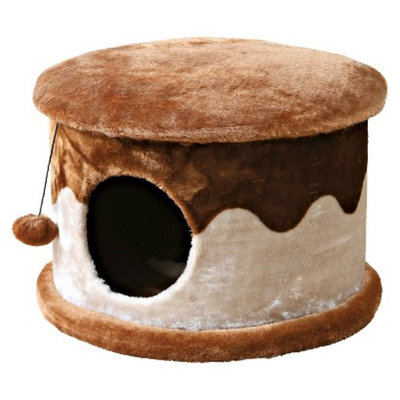 Trixie Cozy Cat Cave - Beige/Brown