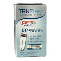 TrueTest Test Strips Preferred Plus Pharmacy Truetest Blood Glucose Test Strips - 50 Ea