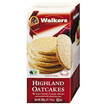 Walkers Shortbread Highland Oatcakes, Savory Crackers, 10.6-Ounce Boxes (Count of 4)