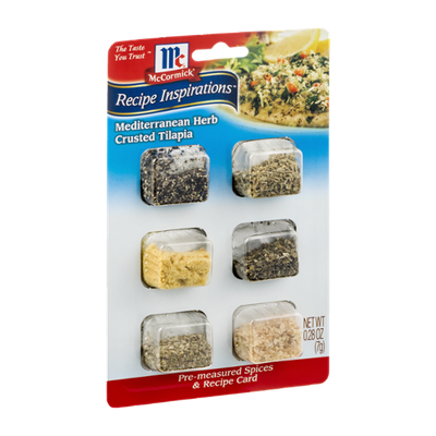 McCormick Recipe Inspirations Mediterranean Herb Crusted Tilapia