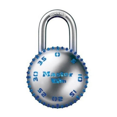 Master Lock 2077D Glow-in-the-Dark Combination Lock, Red, Green, Blue, or Purple, 1-Pack