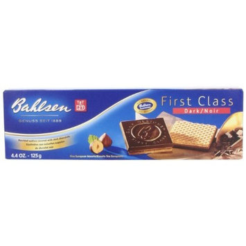 Bahlsen First Class Dark Chocolate Cookies, 4.4-Ounce Boxes (Pack of 12)