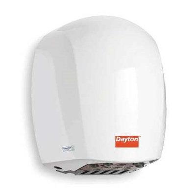 DAYTON 3NXE5 Hand Dryer, White,12 sec,9.6 Amps,105 CFM