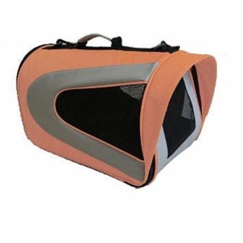 Pet Life Folding Zippered Sporty Mesh Carrier, Large, Orange and Grey, 1 ea