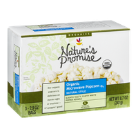 Nature's Promise Organic Microwave Popcorn Bags Natural Style - 3 CT
