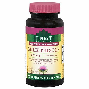 Finest Nutrition Milk Thistle 525mg Capsules