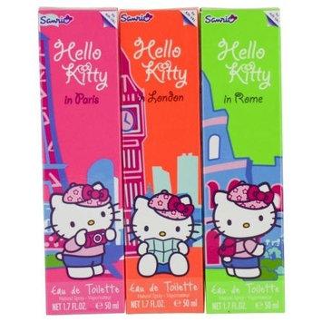 HELLO KITTY 3 Piece Eau De Toilette Spray City Collection Set