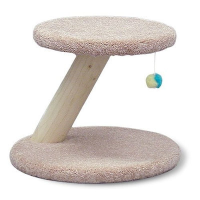 North American Pet Rustic Cat Scratching Post with Toy, 18-Inch