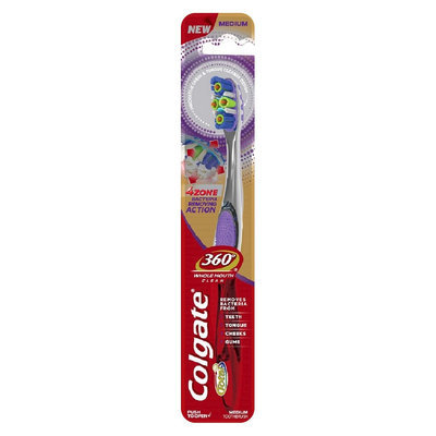 Colgate 360 4 Zone Clean FHM Manual Toothbrush 1 Count