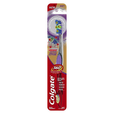 Colgate® 360°® 4 Zone Clean FHS Manual Toothbrush Soft
