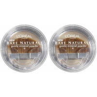 L'Oreal LOREAL Bare Naturale Gentle Mineral Powder Compact with Brush #412 NUDE BEIGE (Qty, Of 2) DISCONTINUED