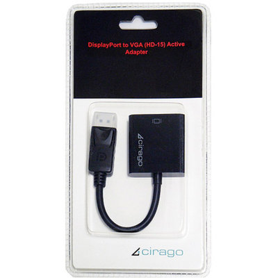 Cirago DisplayPort to VGA Active Adapter, Black