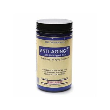 Dr. Venessa's Formulas Anti-Aging 3 Collagen Type I, II & III Powder, Mixed Berry 615 g