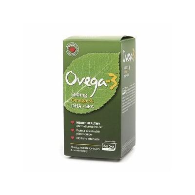 Ovega-3 Omega-3, 500mg, Vegetarian Softgels 60 ea