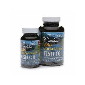 Carlson Elite Omega-3 Gems Fish Oil, 1250mg, Value Pack 120 ea