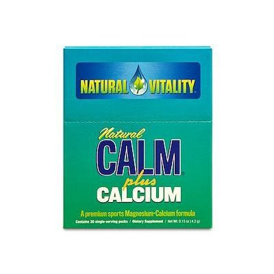Natural Vitality Natural Calm Magnesium Plus Calcium, Packets 30 single-serving packs