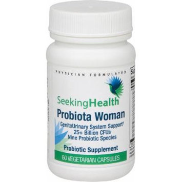 Best Probiotic For Women , Probiota Woman , Hypoallergenic Blend Of 9 Good Probiotic Bacteria For Healthy Vaginal Microflora , No Cold Pack Needed , 60 Easy-To-Swallow Vegetarian Capsules