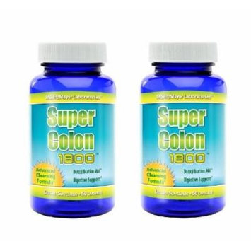 Super Colon 1800 Max Strength Weight Loss Cleanse Detox *All Natural with Acai Fruit and Fennel Seeds* #1 Most Effective , 2 Pack